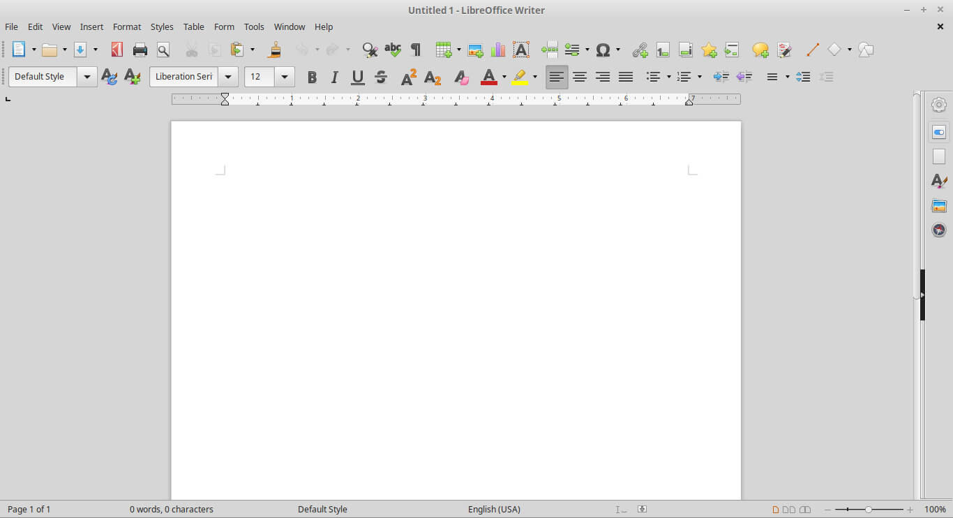 Old Interface LibreOffice